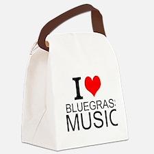 I Love Bluegrass Music Canvas Lunch Bag