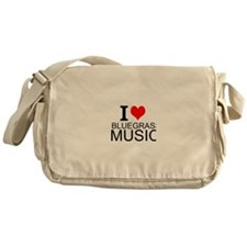 I Love Bluegrass Music Messenger Bag