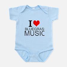 I Love Bluegrass Music Body Suit