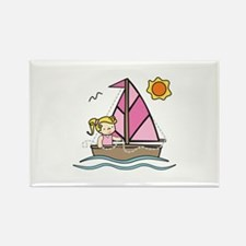 Sailboat Girl Magnets