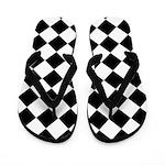Diamond Black White Flip Flops