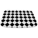 Diamond Black White Bathmat