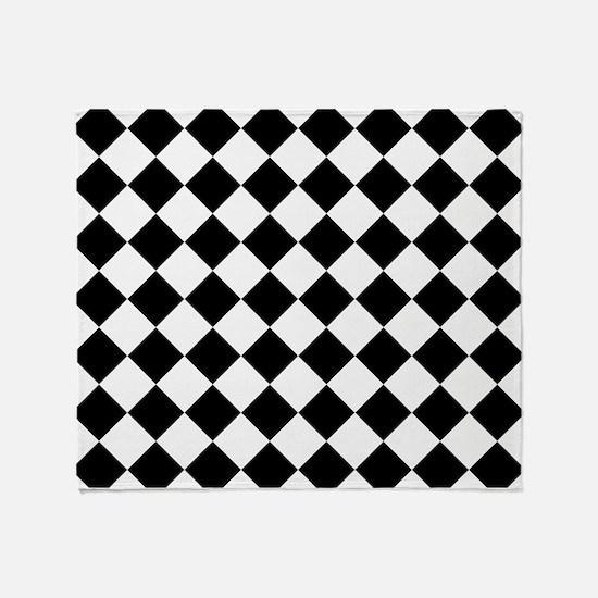 Diamond Black White Throw Blanket