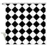 Diamond Black White Shower Curtain
