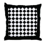 Diamond Black White Throw Pillow