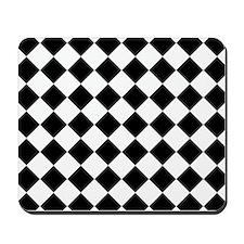 Diamond Black White Mousepad