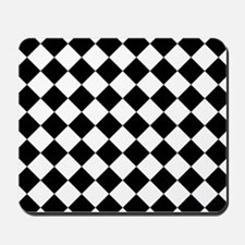 Diamond Black White Mousepad