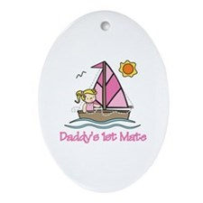 Daddys 1st Mate Ornament (Oval)