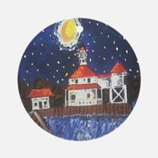 West End Lighthouse Ornament (Round)