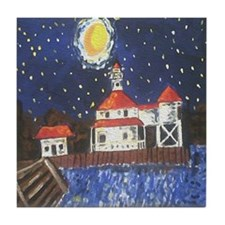 West End Lighthouse Tile Coaster