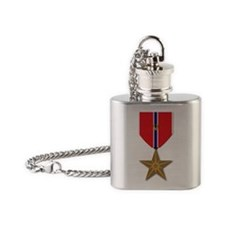 Bronze Star with V Flask Necklace
