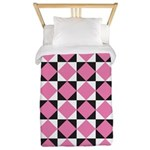 Diamond Black White Twin Duvet