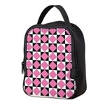 Diamond Black White Neoprene Lunch Bag