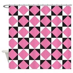Diamond Black White Shower Curtain