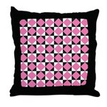 Diamond Black White Throw Pillow