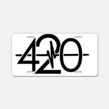 420 Black Aluminum License Plate