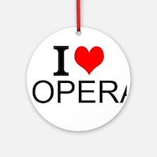 I Love Opera Ornament (Round)