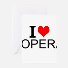 I Love Opera Greeting Cards