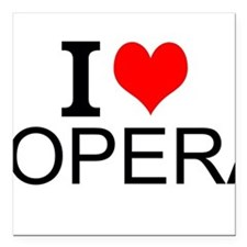 "I Love Opera Square Car Magnet 3"" x 3"""