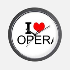 I Love Opera Wall Clock