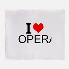 I Love Opera Throw Blanket