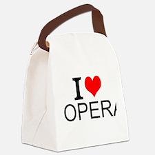 I Love Opera Canvas Lunch Bag