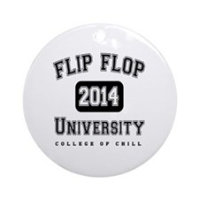 FFU College of Chill Black Round Ornament