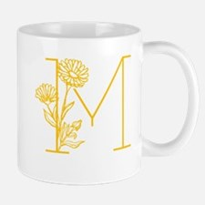 Botanical M Monogram Mugs