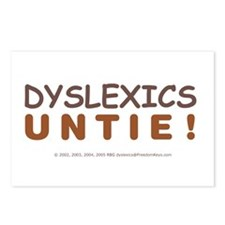 DYSLEXICS UNTIE! Postcards (Package of 8)