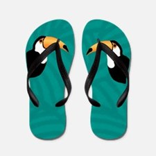Toucan Flip Flops