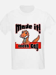 100th Day Dinosaur Made It T-Shirt