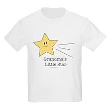 Grandma's Little Star Kids White T-Shirt