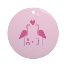 Personalized Love Ornament (Round)