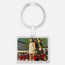 Little Girl Giant Landscape Keychain