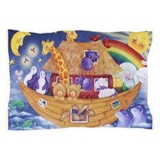 Cute Noah and the ark Pillow Case