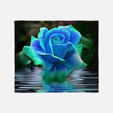 Unique Blue rose Throw Blanket