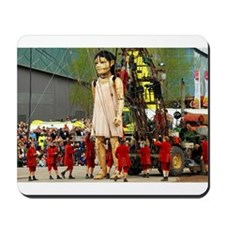 Little Girl Giant Mousepad