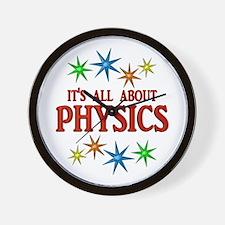 Physics Stars Wall Clock