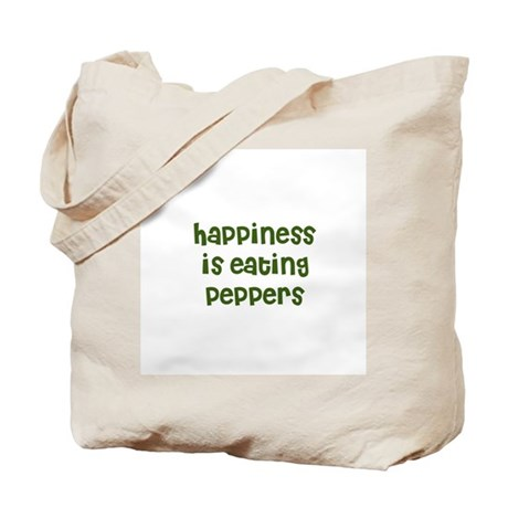 happiness is eating peppers Tote Bag