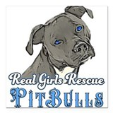 Pit bull rescue Square Car Magnets