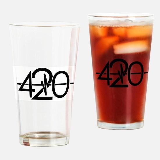 420 Black Drinking Glass