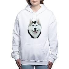 Siberian Husky Women's Hooded Sweatshirt