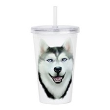 Siberian Husky Acrylic Double-wall Tumbler