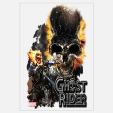 Ghost Rider Skull Wall Art