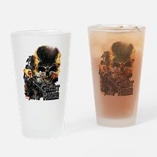 Ghost Rider Skull Drinking Glass