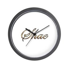 Gold Shae Wall Clock
