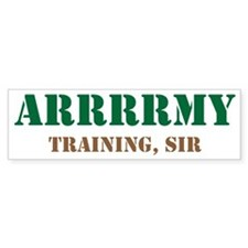 Army Training Sir Bumper Sticker