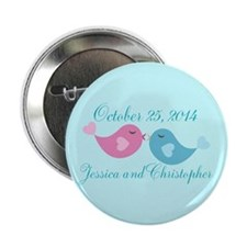 "Teal Save the Date 2.25"" Button"