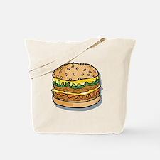 Retro Style Cheeseburger Tote Bag