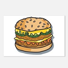 Retro Style Cheeseburger Postcards (Package of 8)